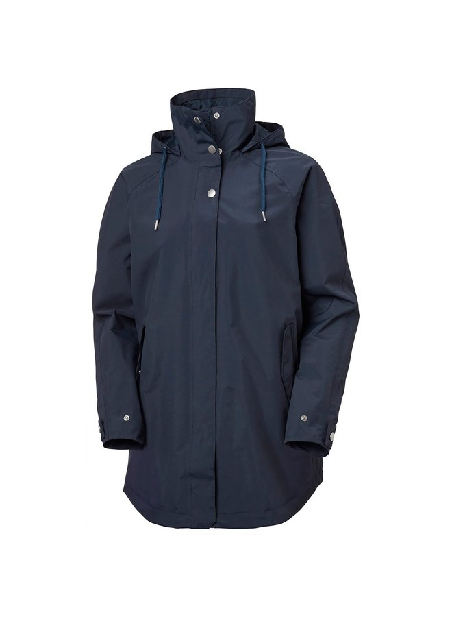 Valentia Raincoat Navy W  small