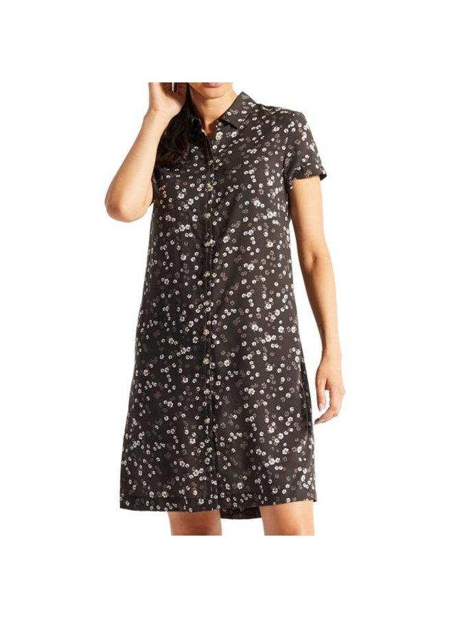Fab Dress Black Hibiscus