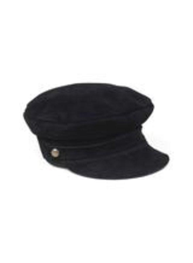 Lola Cap Black Leather Large