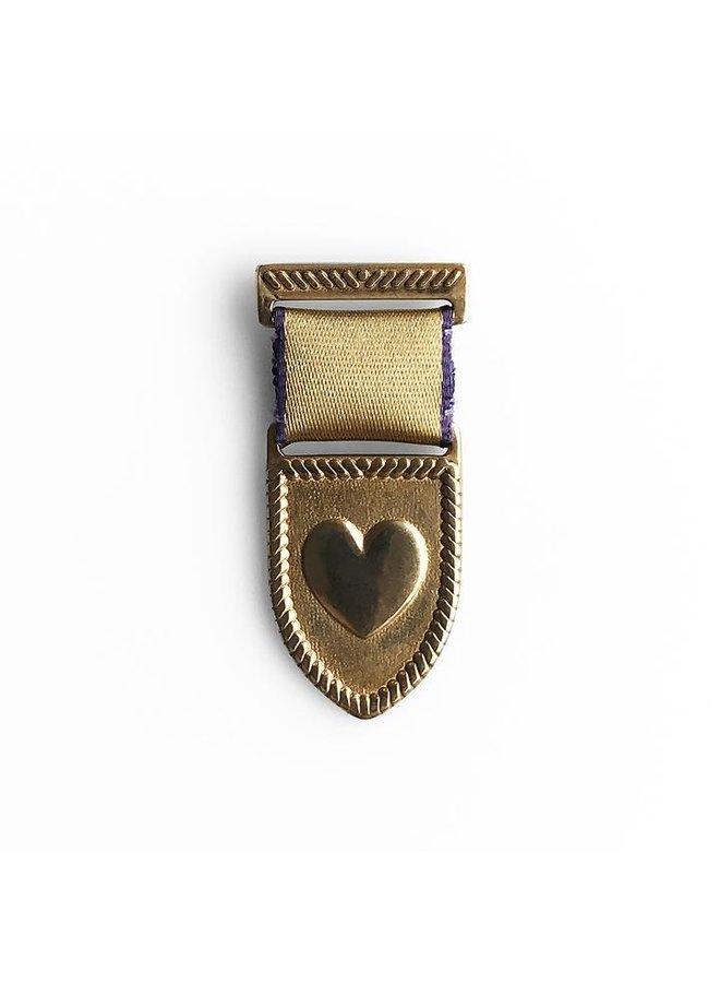 Bronze Medal w/ Gold & Purple Ribbon