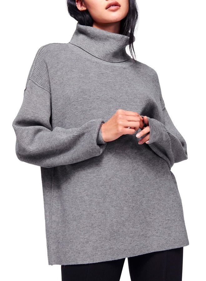 Softly Structured Tunic - charcoal heather