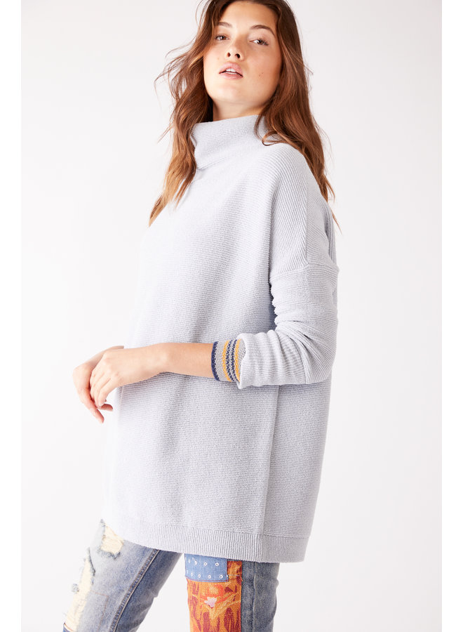 POWDER BLUE Ottoman Slouchy Tunic