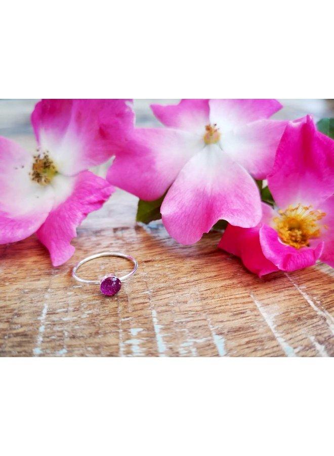 Wild Rose Stacking Ring-Gold