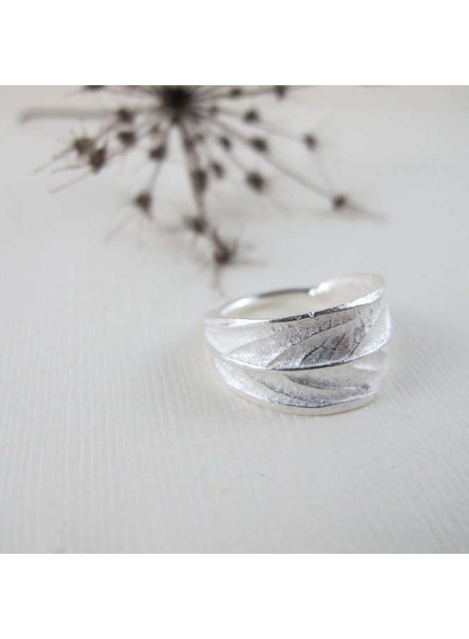 Willow Leaf Sterling Silver Ring - Galiano Island