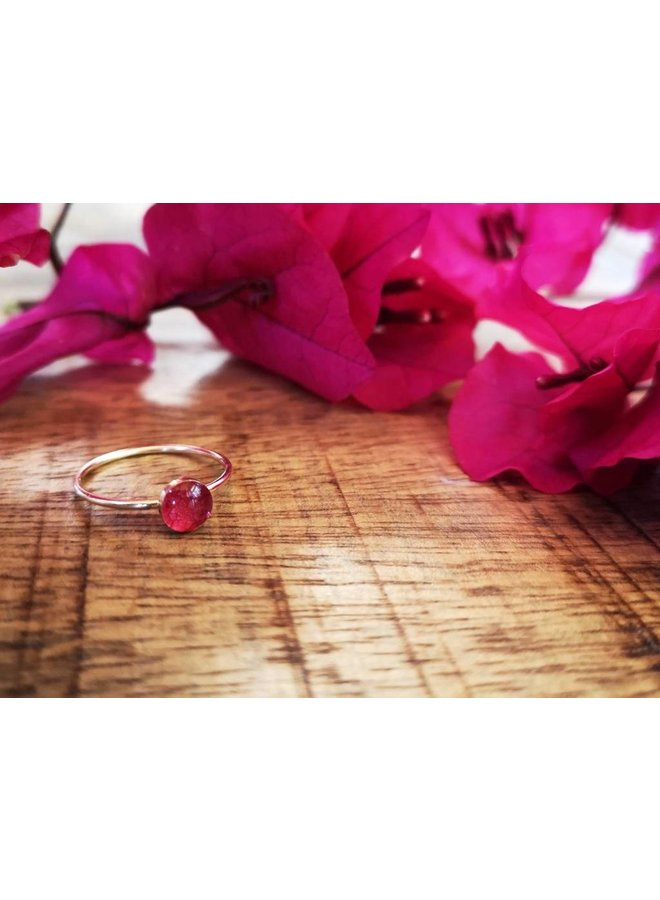 Bougainvillea Stacking Ring-Gold