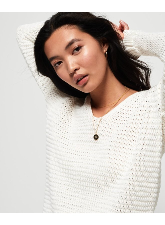 Eloise Textured Open Knit