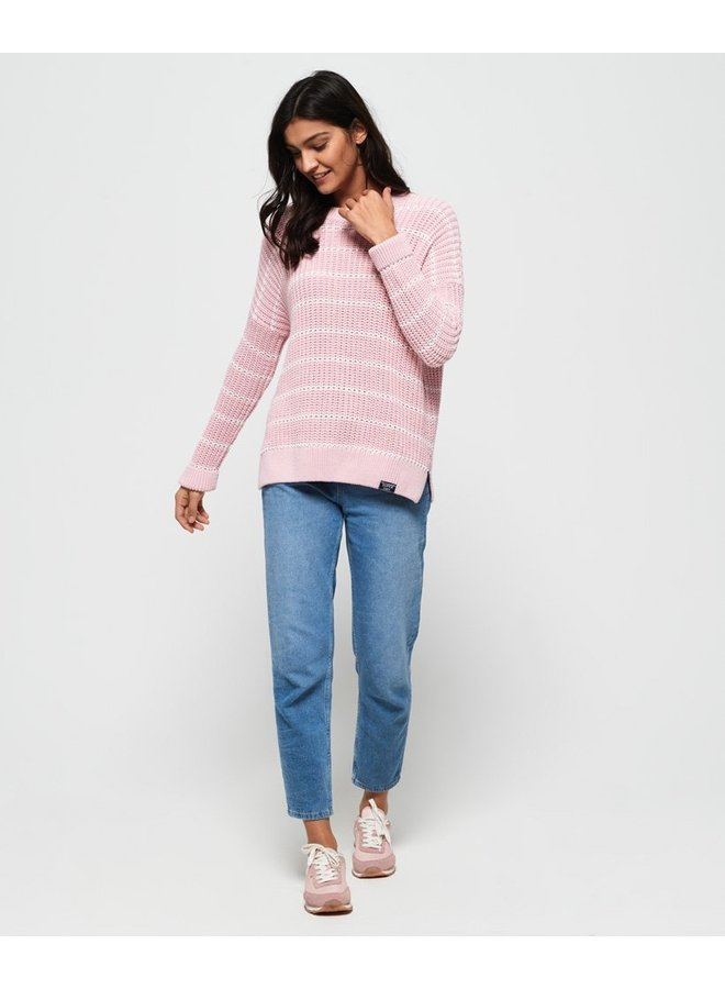 Elsie Slouch Crew - Soft Pink