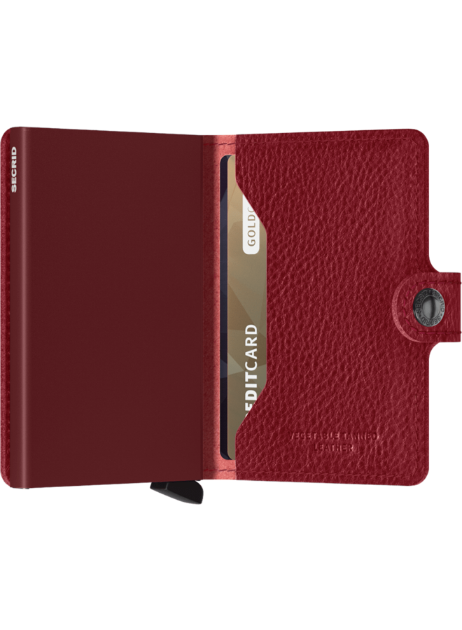 Mini Wallet Veg Rosso Bordeaux