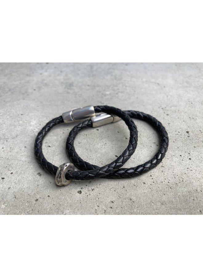 Men Braided Bracelet w/ beads