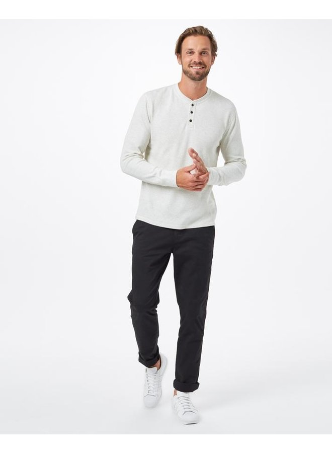 M Treewaffle Henley - elm white heather