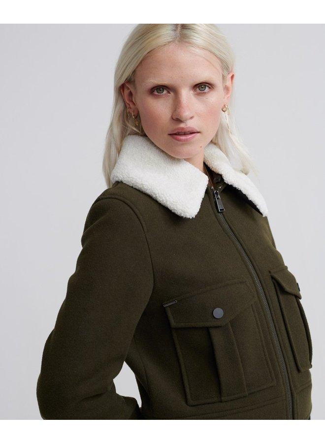 Selena Cropped Wool Jacket