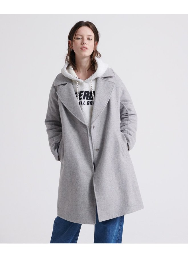 Koben Wool Coat - light grey