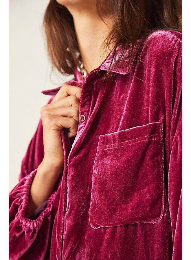 Lux Velvet Shirtdress - fairytale