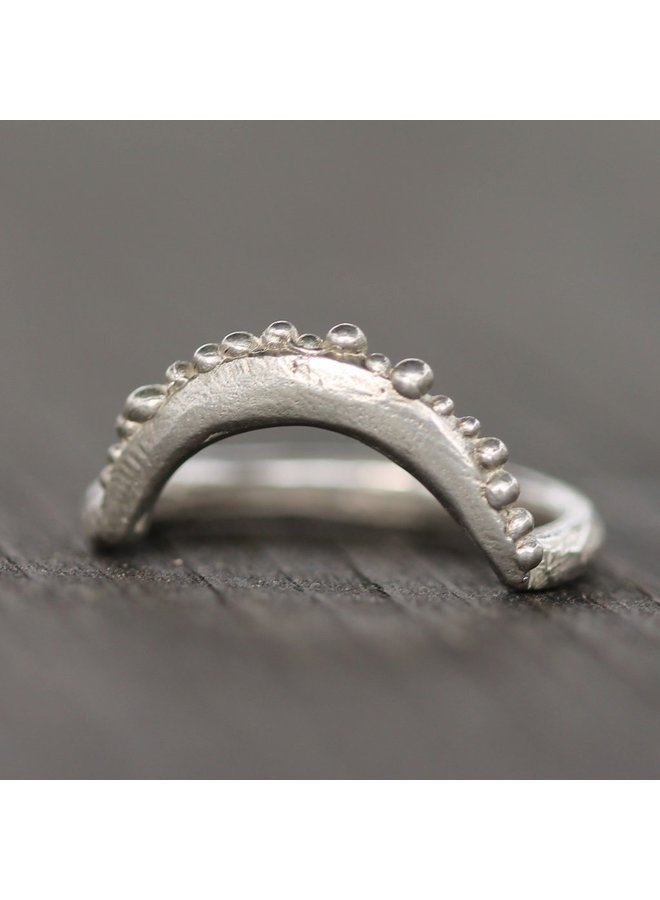 Reef Moon Ring Sterling Silver - 6.5