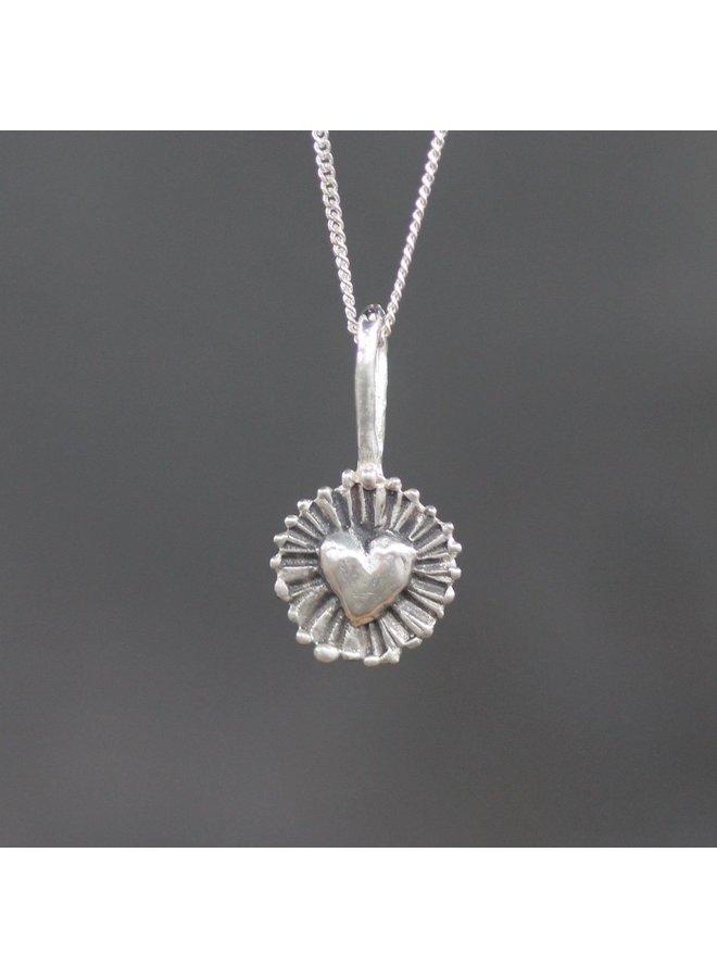 Shining Heart Pendant/Sterling Silver