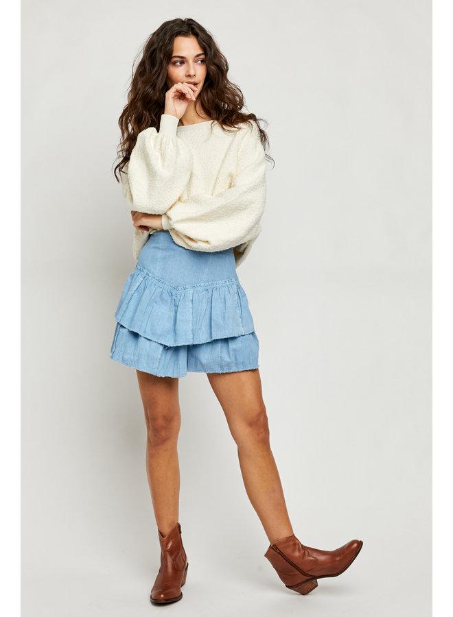 Ruffles in Sand Skirt