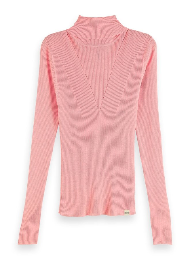 Fine Knit High Neck Pullover