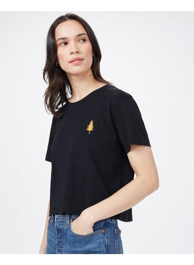 Women Golden Spruce Crop T-shirt