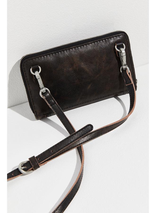 WTF Perri Leather Cross Body - graphite