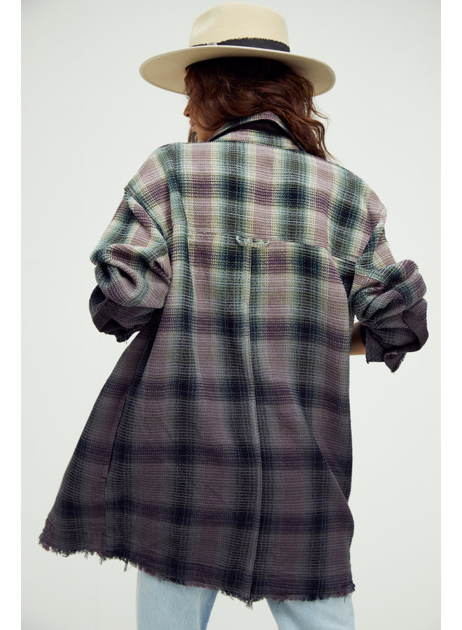 Anneli Plaid Shirt Jacket