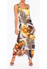 Elena Wang Elena Wang Ruffle Printed Dress