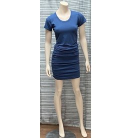 Bobi Bobi Los Angeles Short Sleeve Shirred Dress