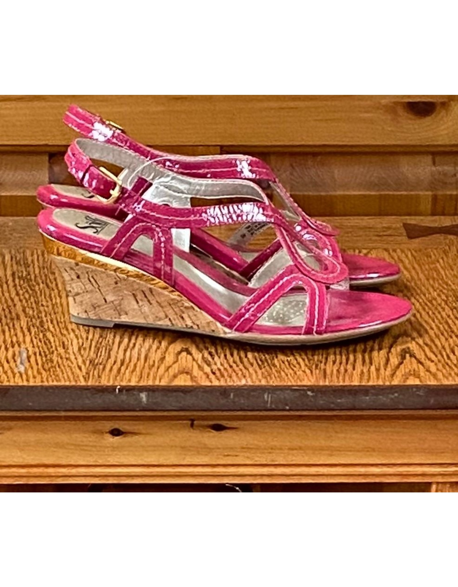 sofft Sofft Patent Leather Wedge Sandal