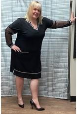 Artex Artex V Neck Dress With Pockets