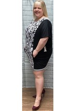 Artex Artex Printed Top with Pockets in Front