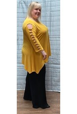 Artex Artex Cold Shoulder Twist Sleeve Top