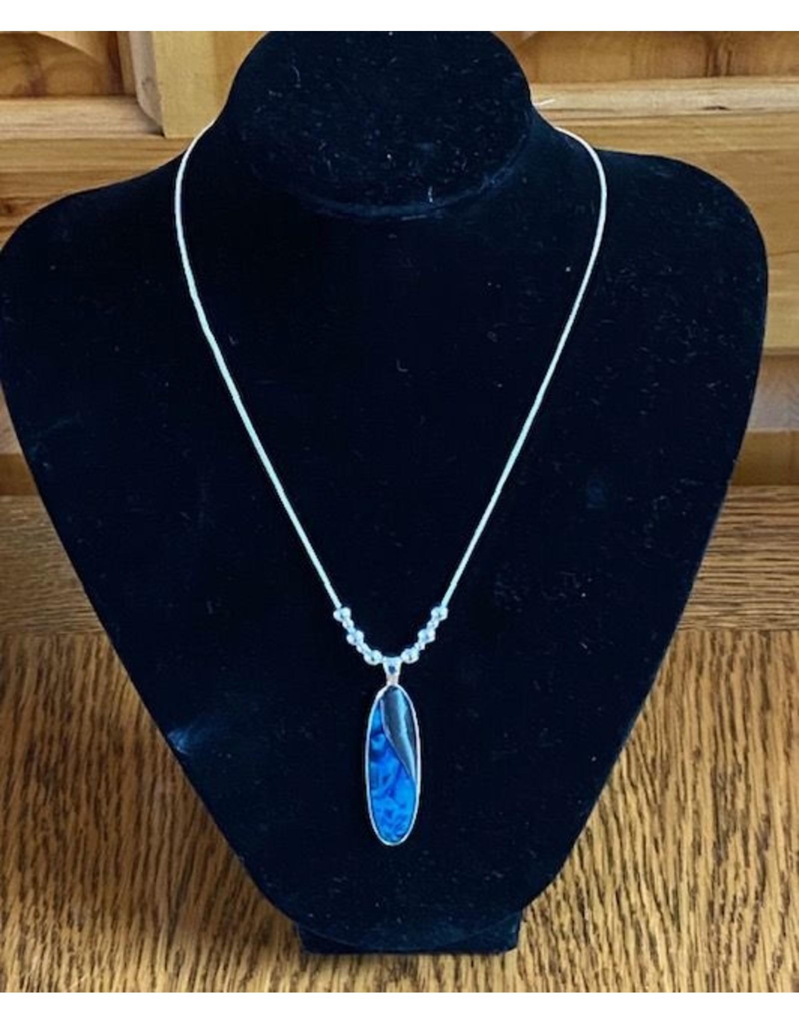 Blue Ocean Necklace & Earrings Set