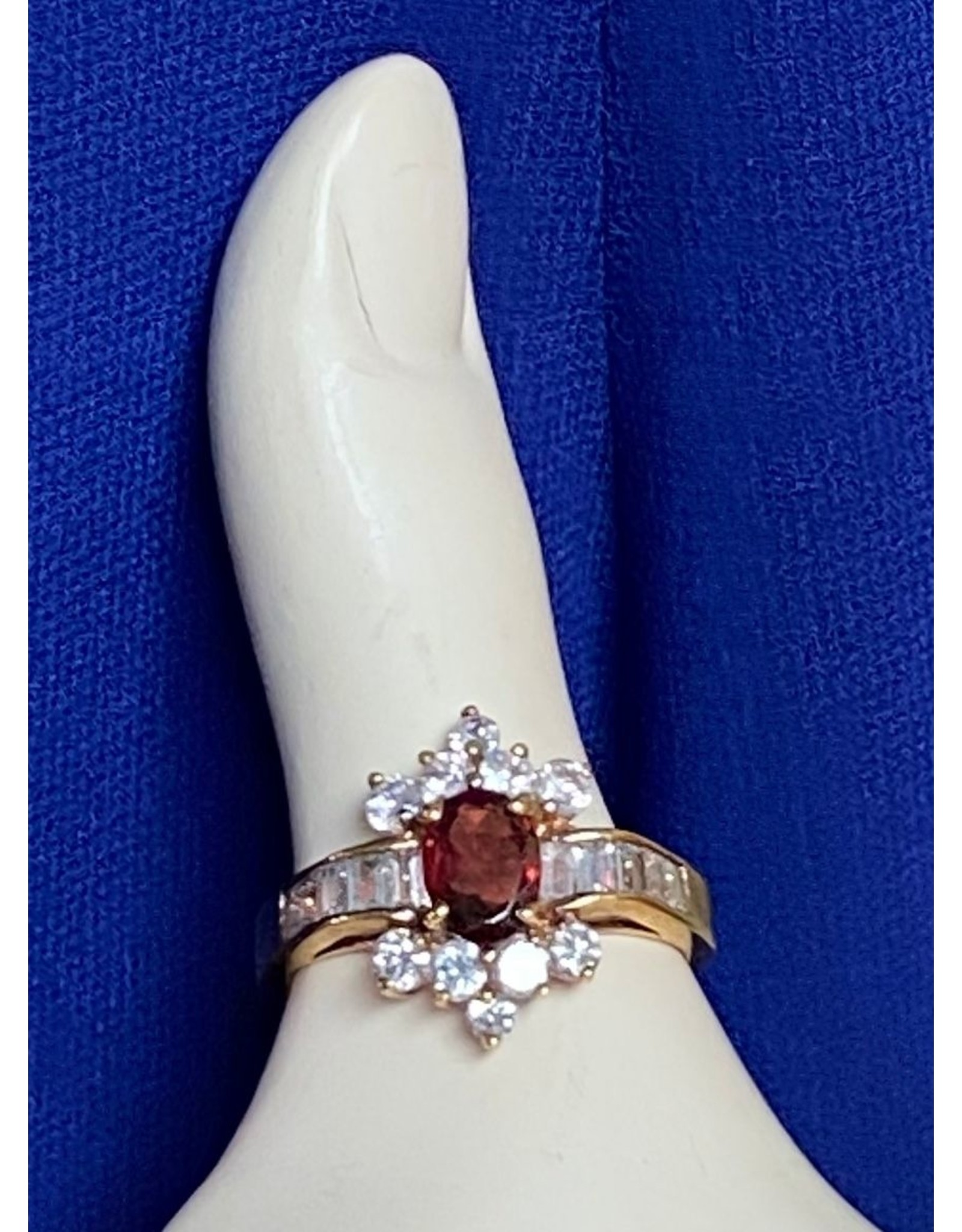 Gold Band  With Ruby Fashion Ring