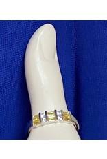 Yellow & Diamond Stone Fashion Ring
