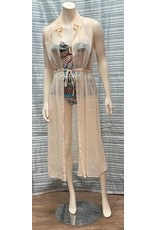 Charlie Paige Charlie Paige Sheer Cover up with Tie
