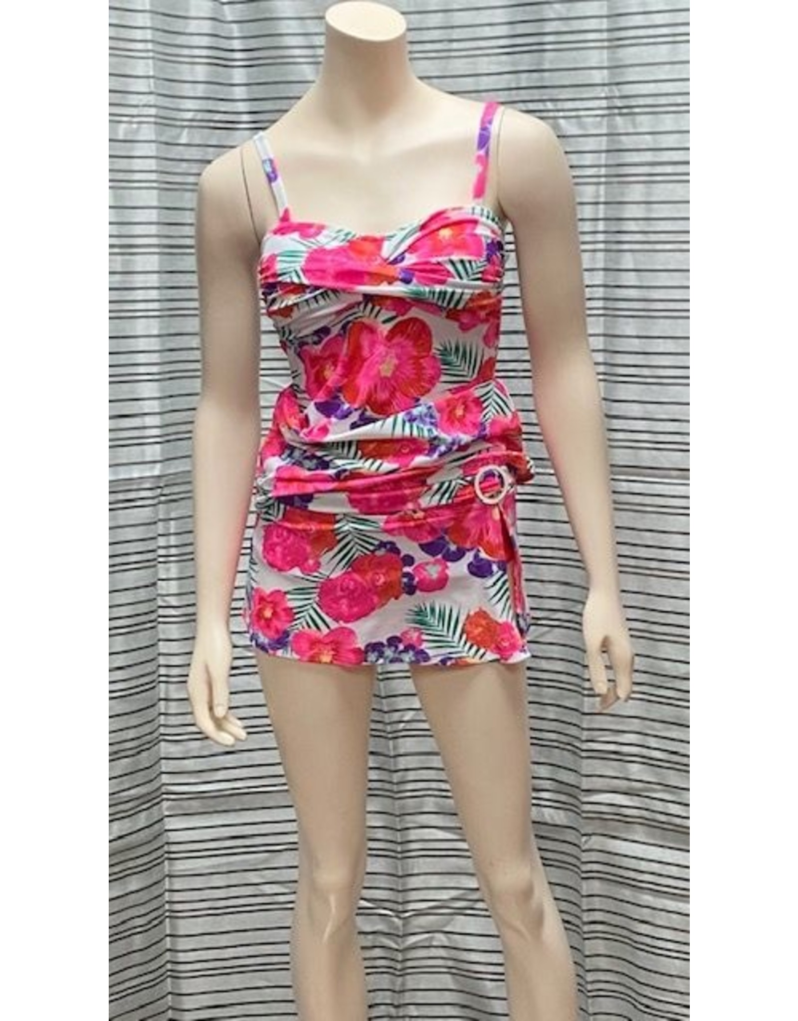Nass-Eau Beach Wear Floral Tankini Set