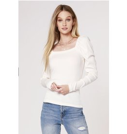 Bobi Los Angeles Bobi Los Angeles Square Neck Top
