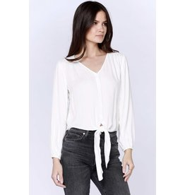 Bobi Los Angeles Bobi Los Angeles Button up Tie Front Blouse