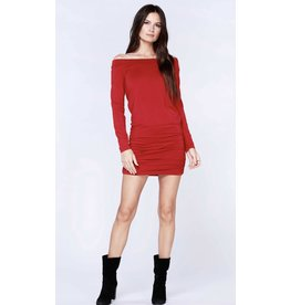 Bobi Los Angeles Bobi Los Angeles Off Shoulder Shirred Dress