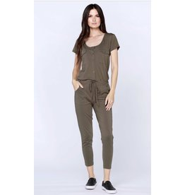 Bobi Los Angeles Bobi Los Angeles Henley Jumpsuit