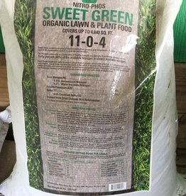 Nitro Phos Sweet Green Lawn Fertilizer 44 lbs. 11-0-4
