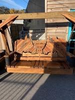 Swing, Horses, 6' Reclaimed Mahogany W/A-Frame