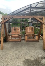 "Swing, Arched Single Seats 28"" Reclaimed Mahogany W/A-Frame"