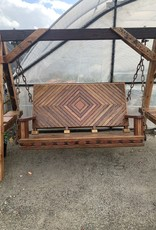 """Swing, Diamond 6' Deluxe reclaimed """"One of a Kind"""" Mahogany W/A-Frame"""