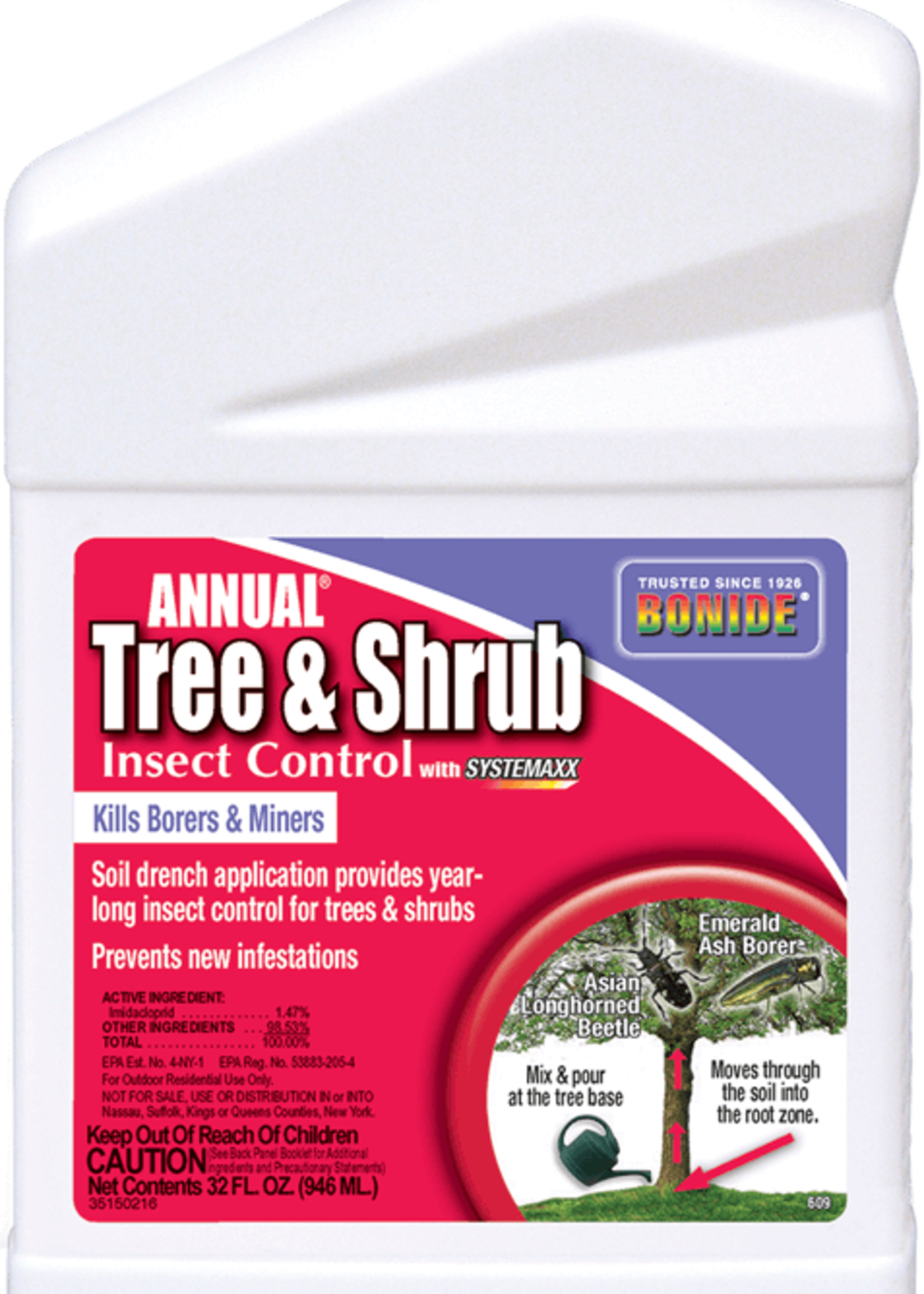 Bonide Tree & Shrub Insect Control concentrate drench 32 oz.