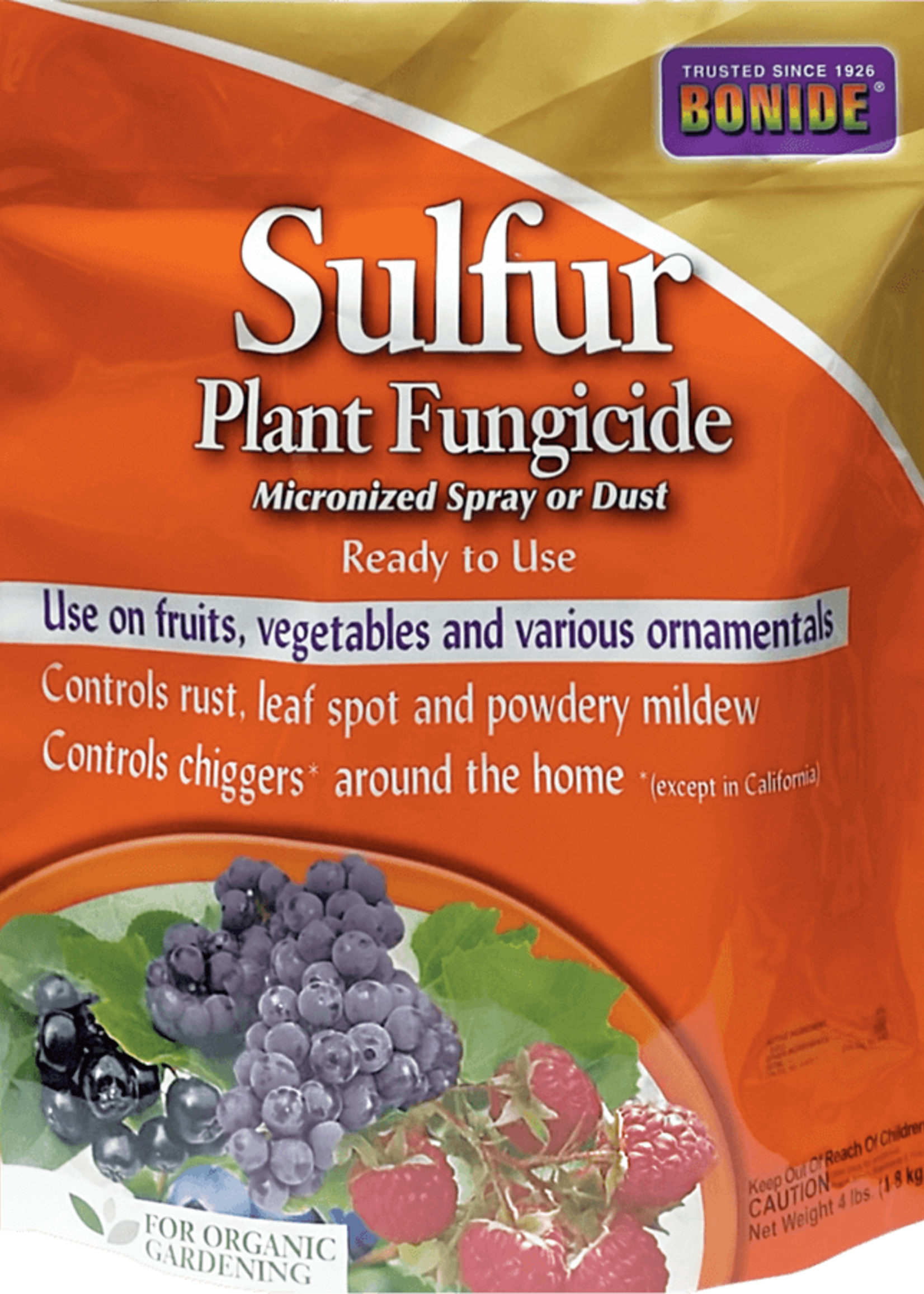 BONIDE Sulfur Plant Fungicide 4 lbs.