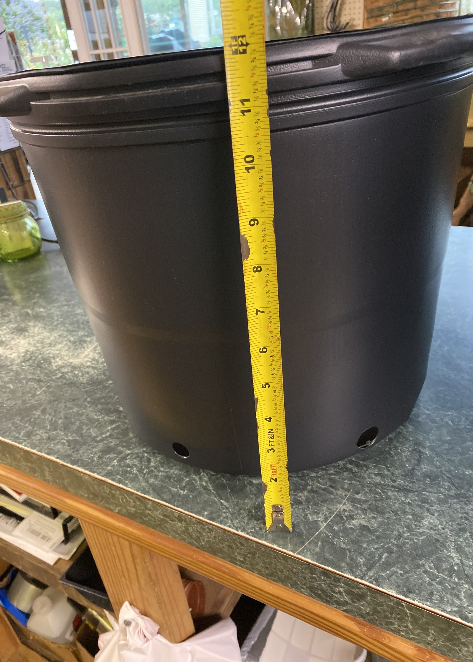 Black Plastic Nursery Growing  Pot, 7 gal.