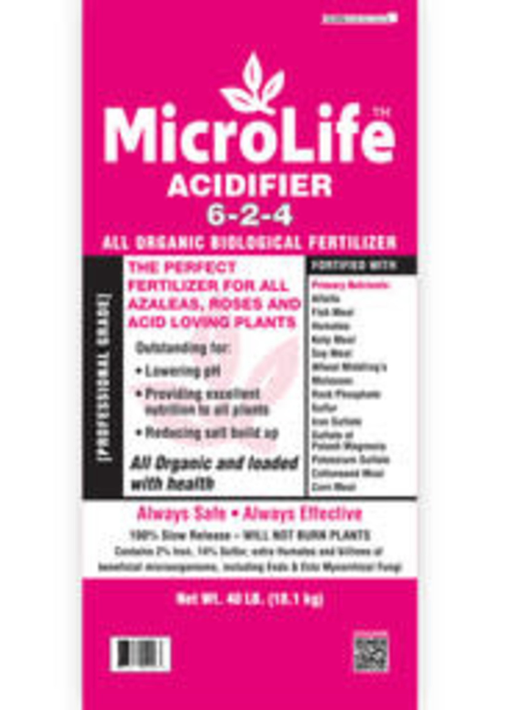 MicroLife Azalea Fertilizer 6-2-4 40 lb. bag
