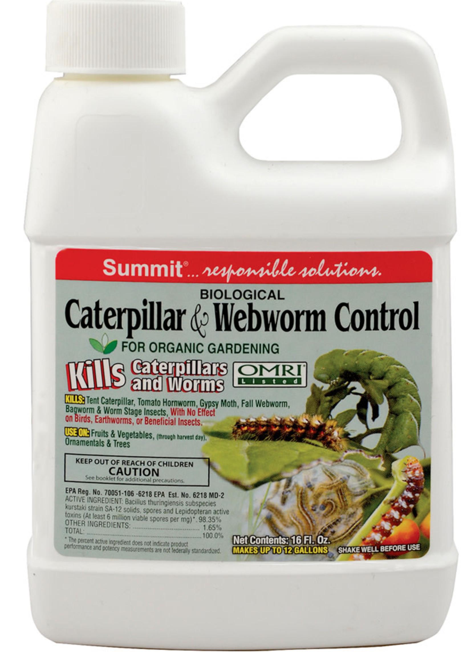 Summit Caterpillar and Sod Webworm Spray BT. 16 OZ