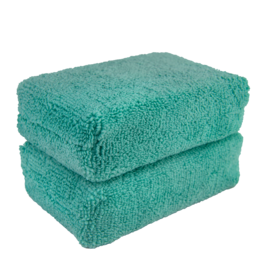 Chemical Guys Green - Microfiber Applicator Premium Grade (2 Pack)