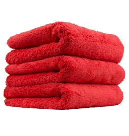 Chemical Guys Happy Ending Edgeless Microfiber Towel, Red 16''X16'' (3 Pack)